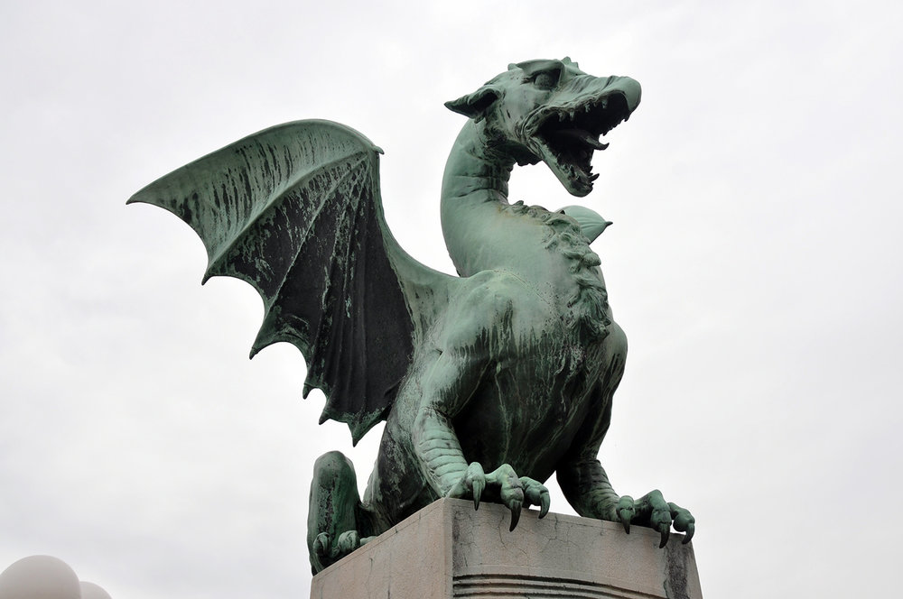 Dragon Bridge Zmajski Most Ljubljana Slovenia Travel