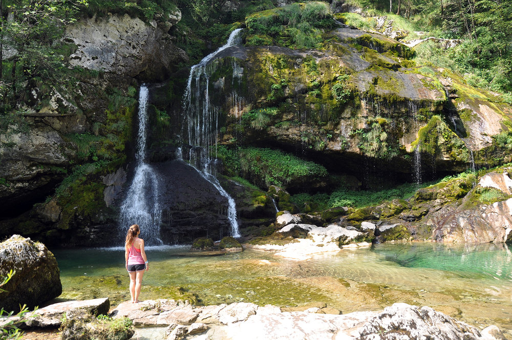 Virje Waterfall Bovec Slovenia Travel