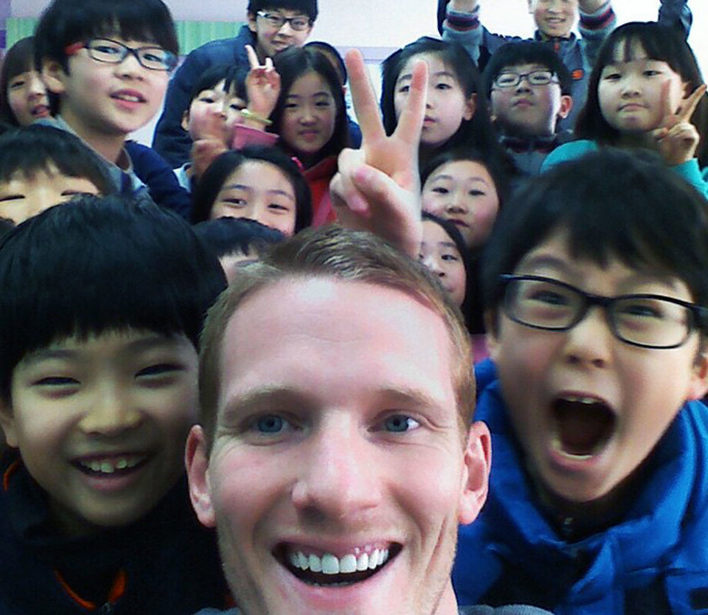 Ben's English class in Korea loved him