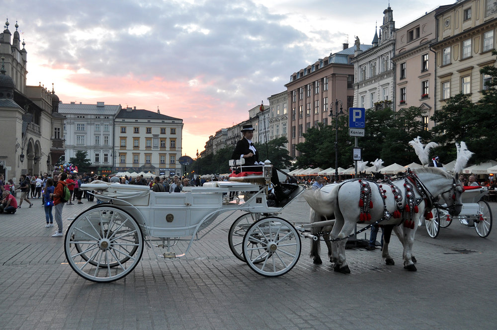 Things to do in Poland Krakow Rynek Główny Horse and Carriage