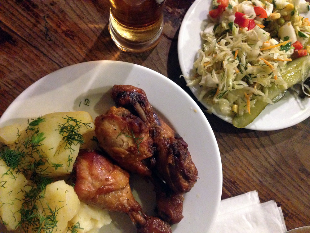 Things to do in Poland Krakow Chicken Dinner