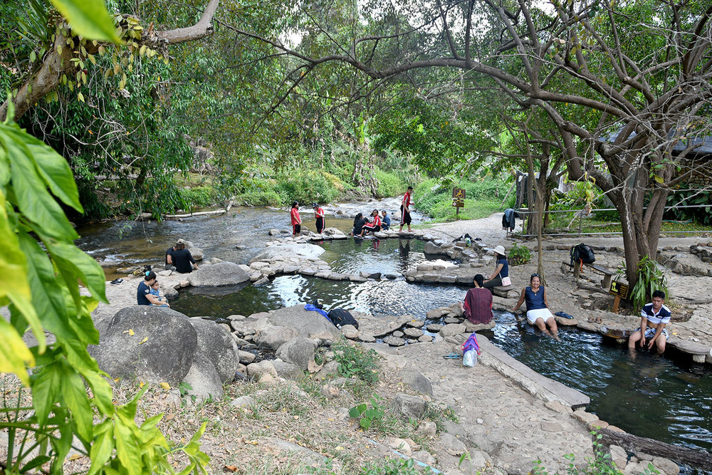 Chae Son Hot Spring Park Off the beaten Path Day Trip from Chiang Mai Thailand