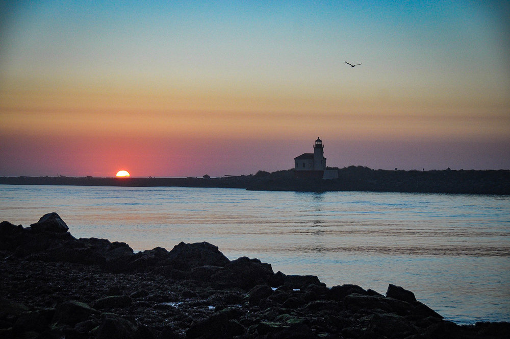 Things to Do in Oregon Lighthouse Sunset