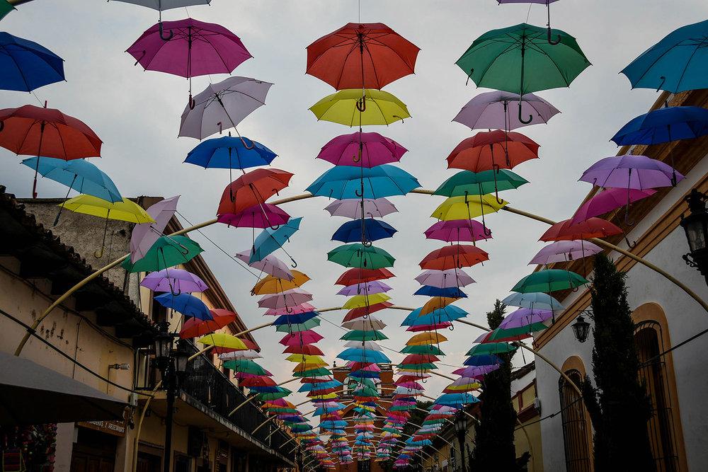 Things to Do in San Cristobal de las Casas Colorful Umbrellas Street
