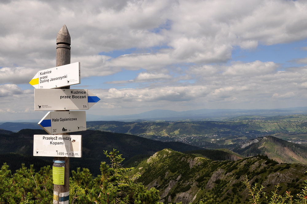 Zakopane Poland Travel Things to Do Hiking Tatra Mountains Signpost