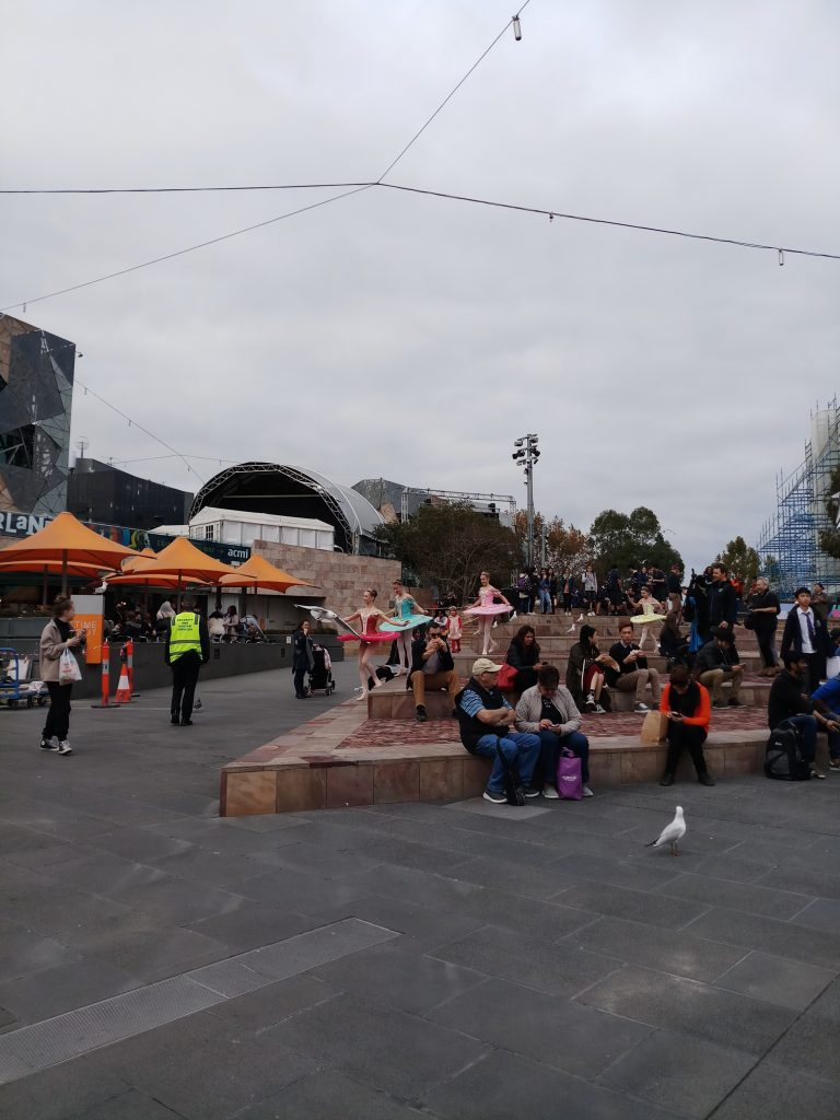 Melbourne Australia Cheap Things to Do Ballerinas at Federation Square