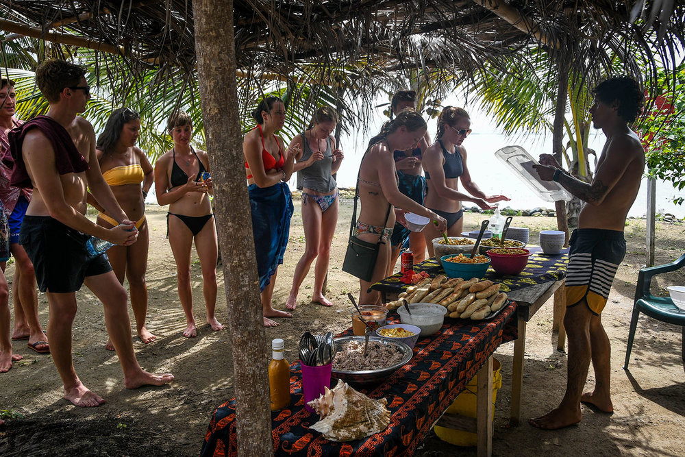 San Blas Islands Panama to Colombia Lunch Time