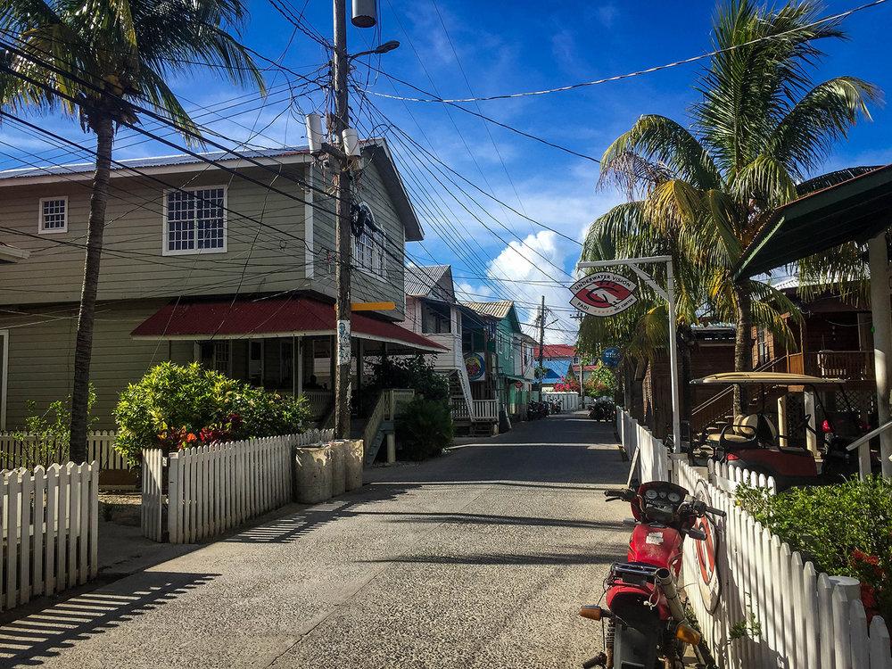 Roatan vs. Utila Honduras Bay Island Utila Street
