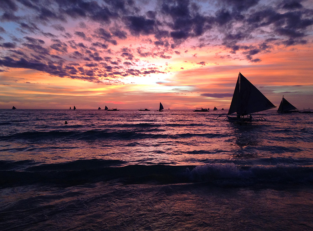Teaching English Abroad Philippines Sunset Sailboats