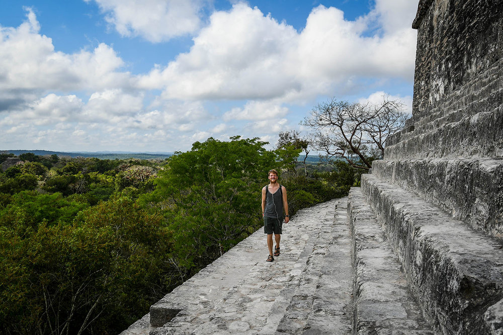 Visit Tikal Guatemala Temples and Headphones