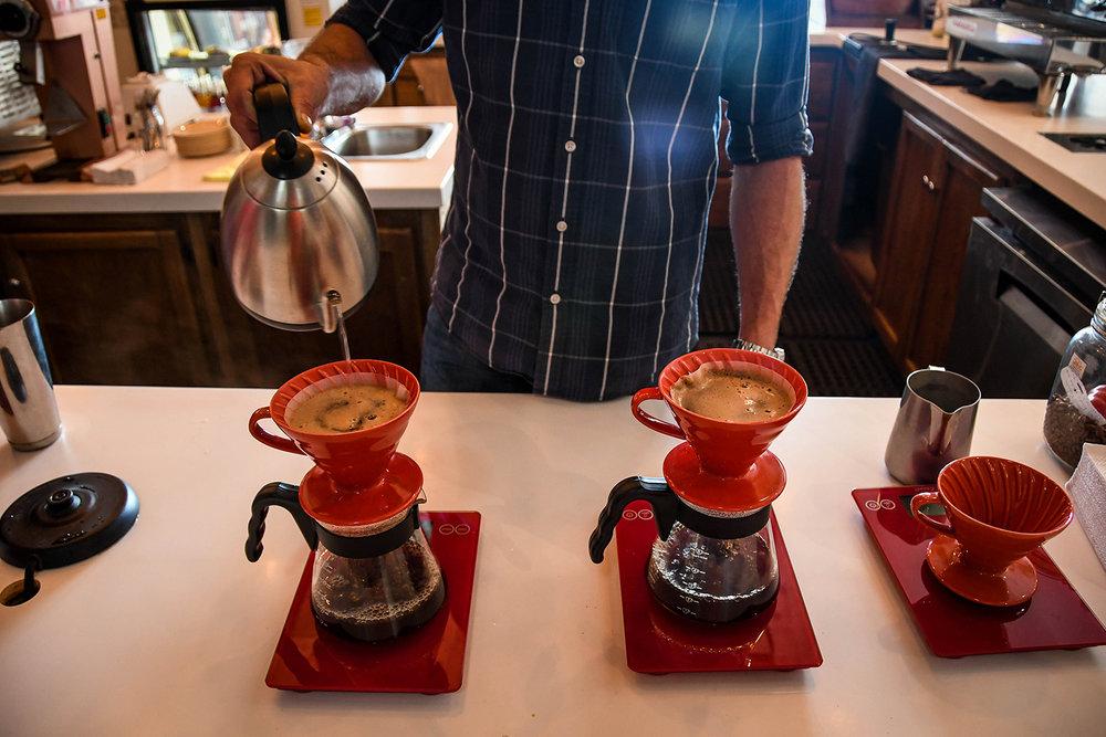 Coffee Tour Honduras Pouring Coffee