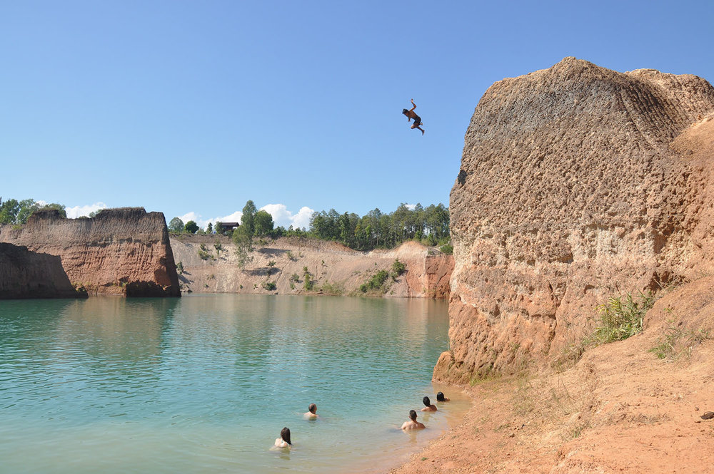 Travel Safety Tips Cliff Jump