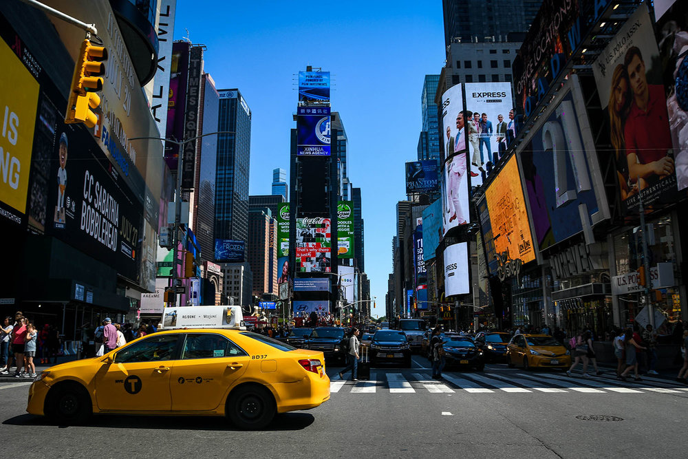 Travel Safety Tips NYC Taxi Times Square