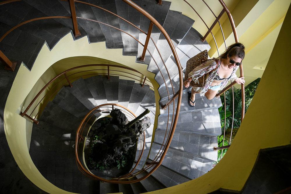 Komaneka at Bisma Ubud Resort Review Spiral Staircase