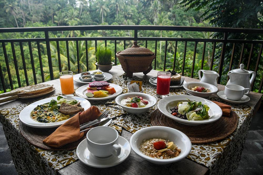 Komaneka at Bisma Ubud Resort Review Private Breakfast