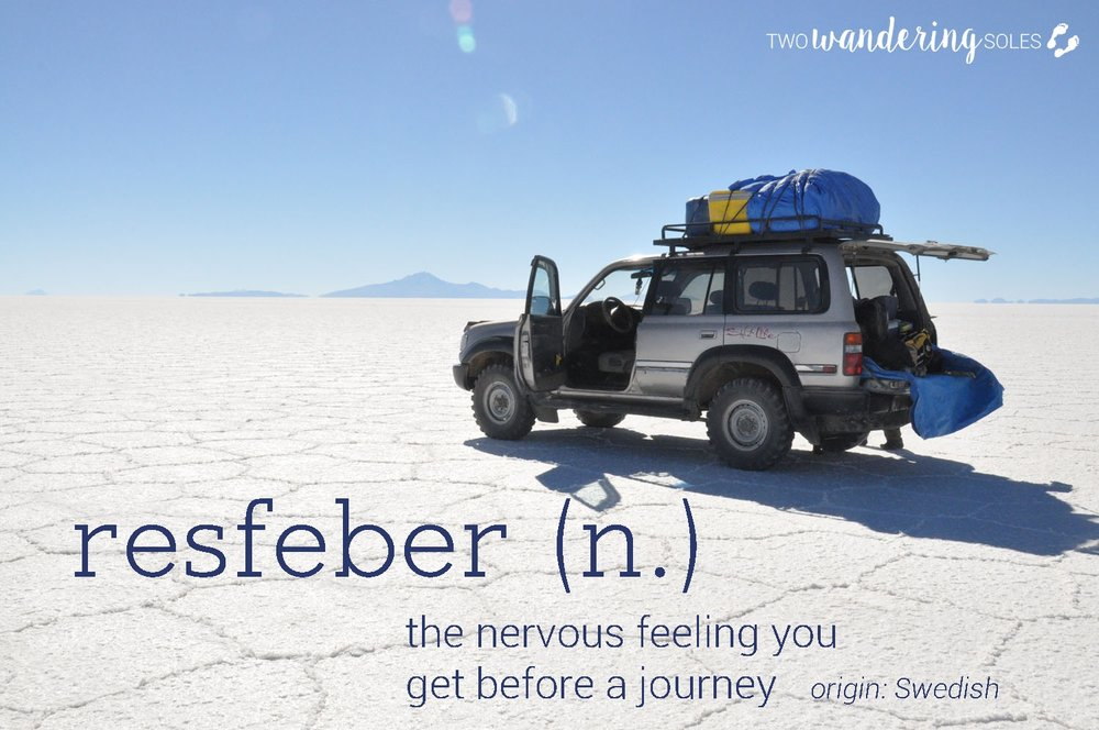 Resfeber Awesome Travel Words