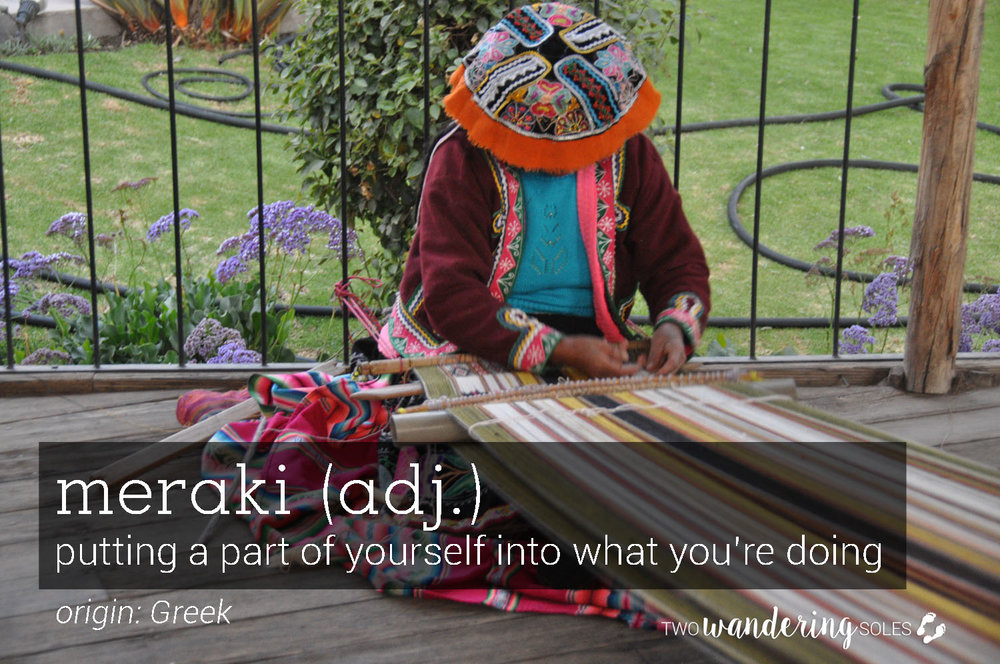 Meraki Awesome Travel Words