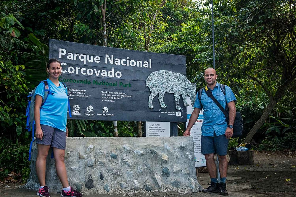 Ligia & Rodrigo at Corcovado National Park