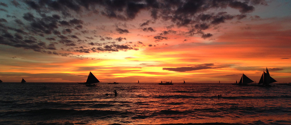 Philippines Travel Guide Boracay Sailboat Sunset