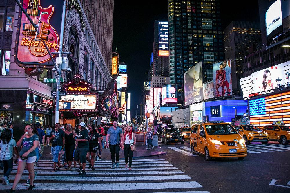 New York City budget Times Square