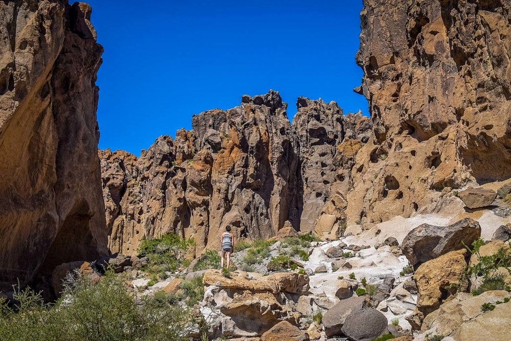 Best Desert Hikes in California: Hole in the Wall Trail Credit: We Who Roam