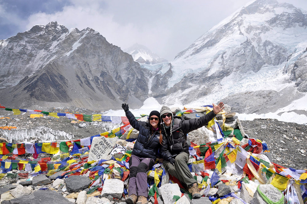 Everest Base Camp Itinerary: Sitting at Everest Base Camp