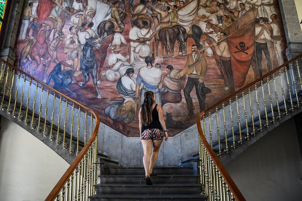 3 Days in Mexico City Itinerary Chapultapec Castle Staircase