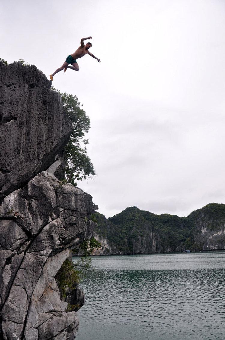 Ha Long Bay Cliff Jumping Vietnam Itinerary