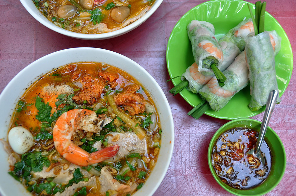 Lunch Lady Noodles Seafood Saigon Vietnam Itinerary