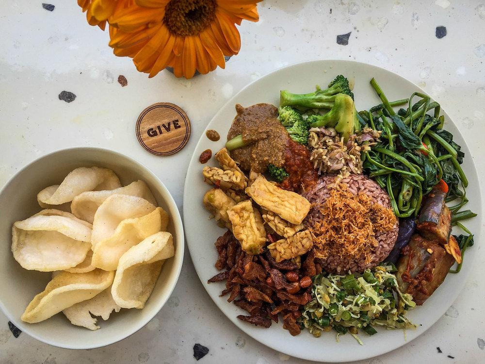 Things to do in Bali Vegan Nasi Campur