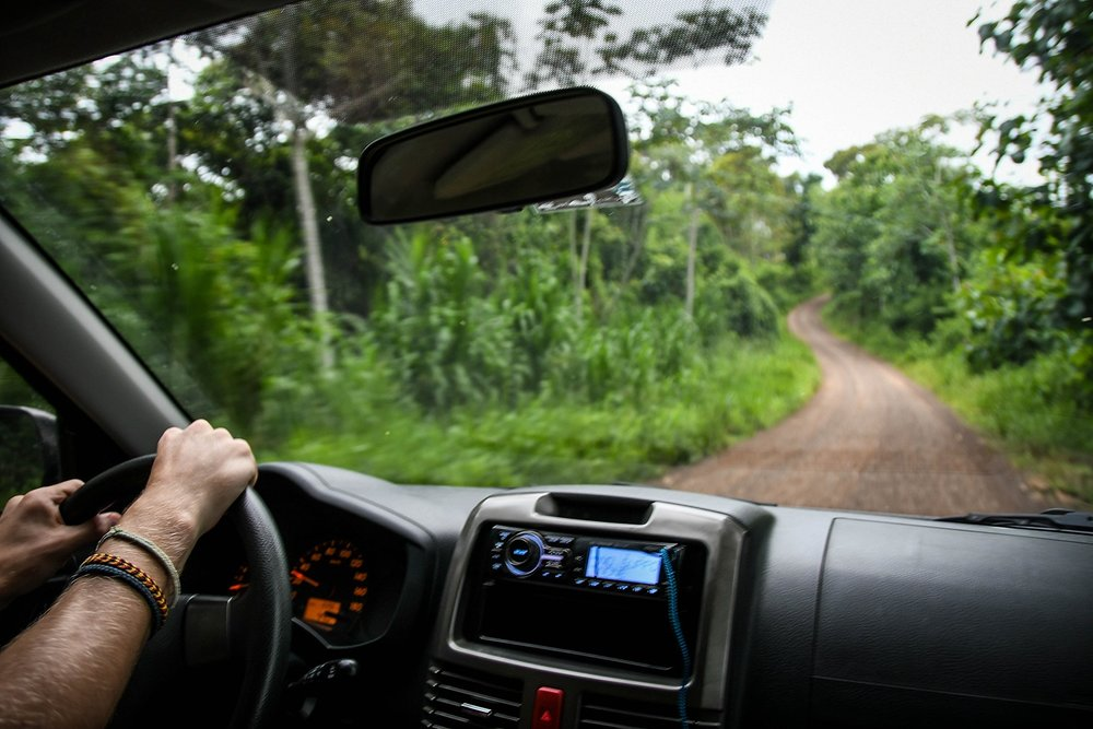 Renting a Car in Costa Rica Driving on a Dirt Road