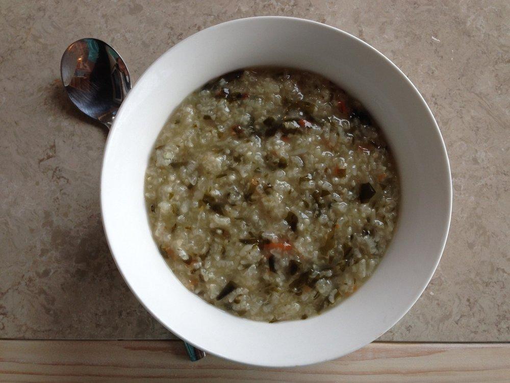 Kims Cabin Breakfast Seafood Porridge Jeju Korea