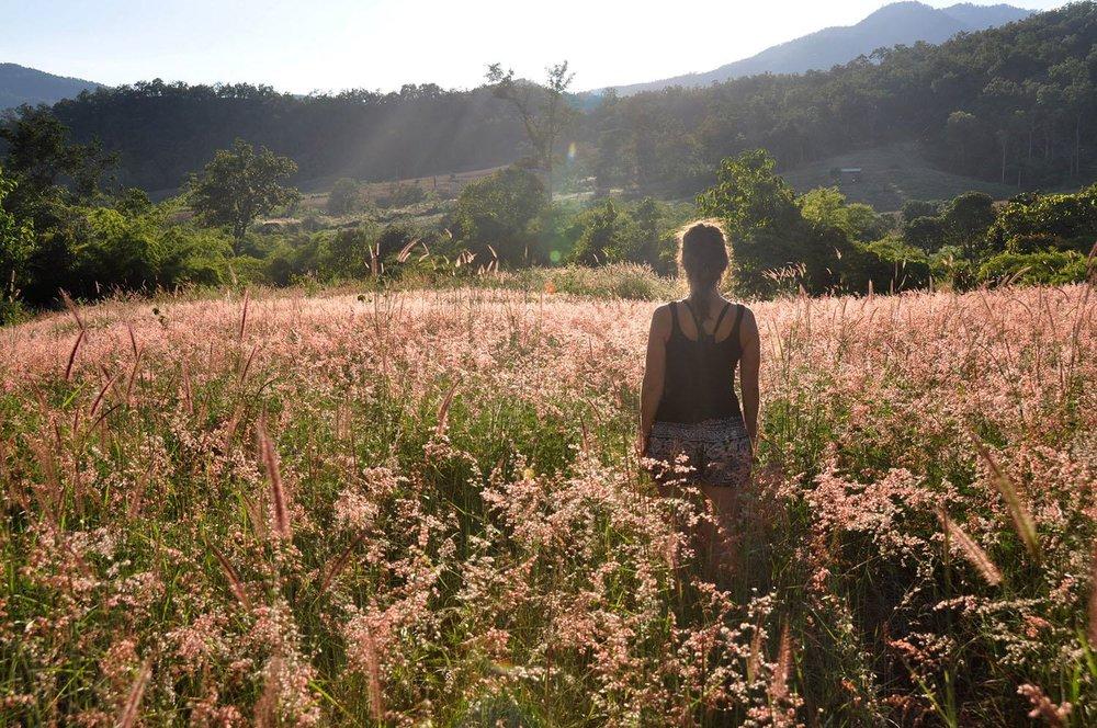 Pai Thailand Field Girl