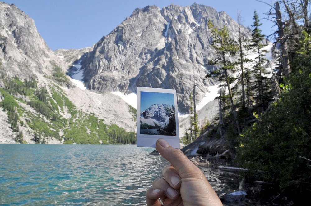 Colchuck Lake polaroid