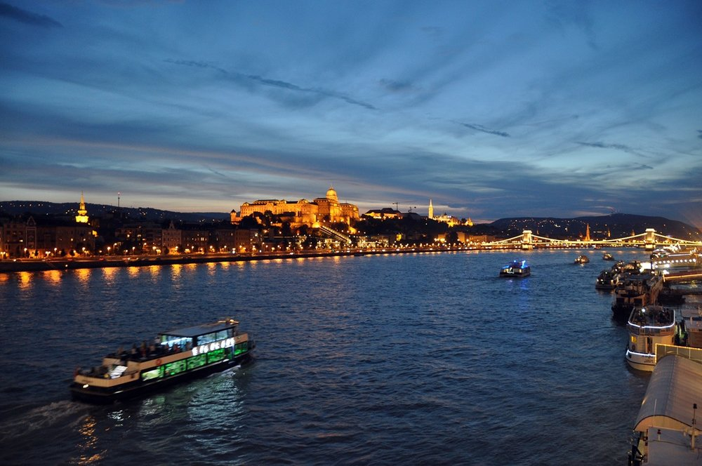 Buda Castle Sunset on Bridge Things to Do in Budapest Travel
