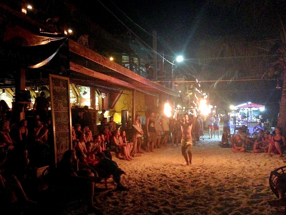 Two Weeks in Cambodia Itinerary Fire Show Koh Rong