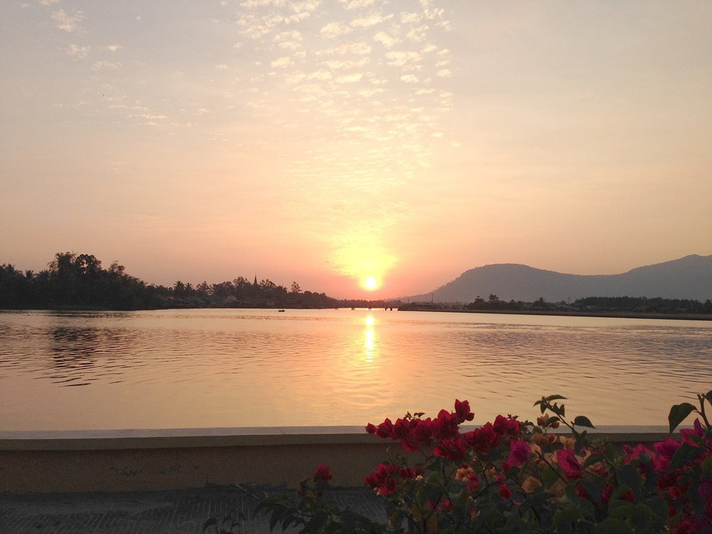 Two Weeks in Cambodia Itinerary Kampot Sunset
