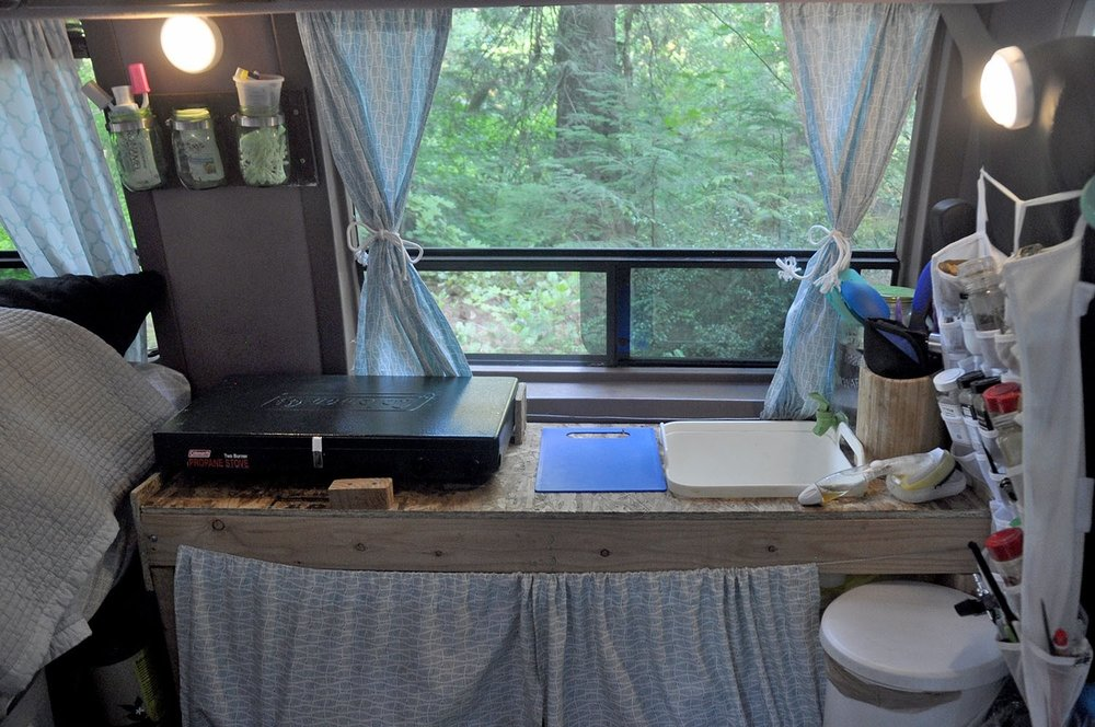 DIY Campervan Kitchen Counter
