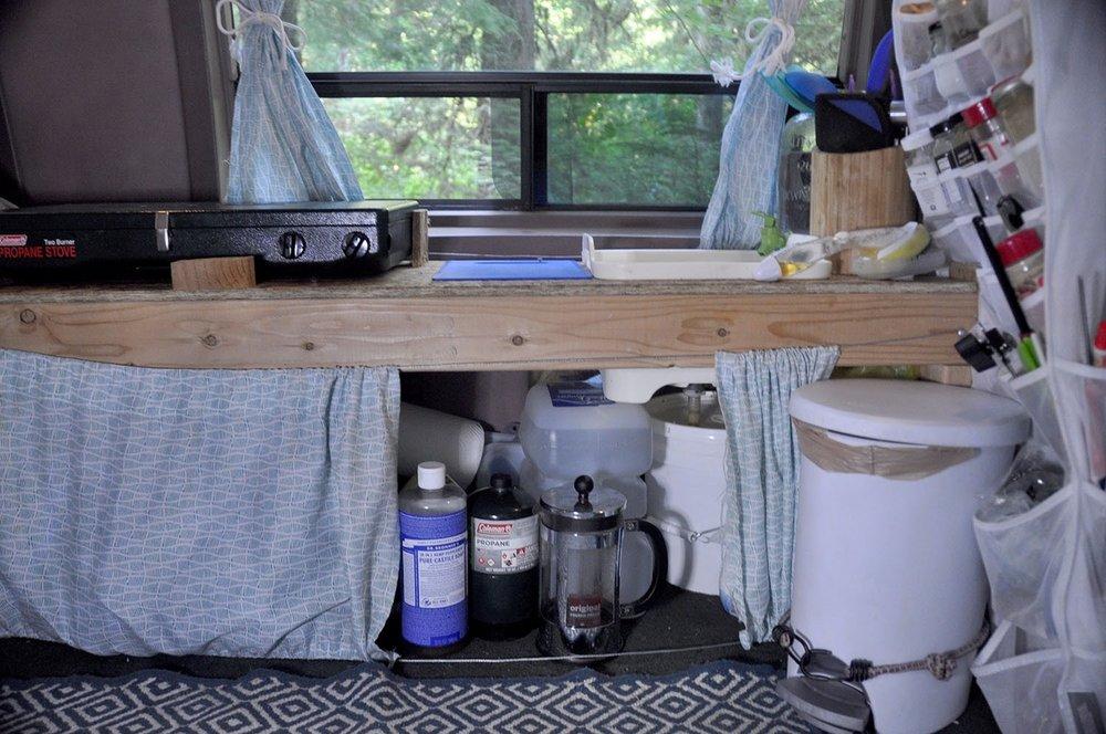 Campervan Kitchen DIY Storage