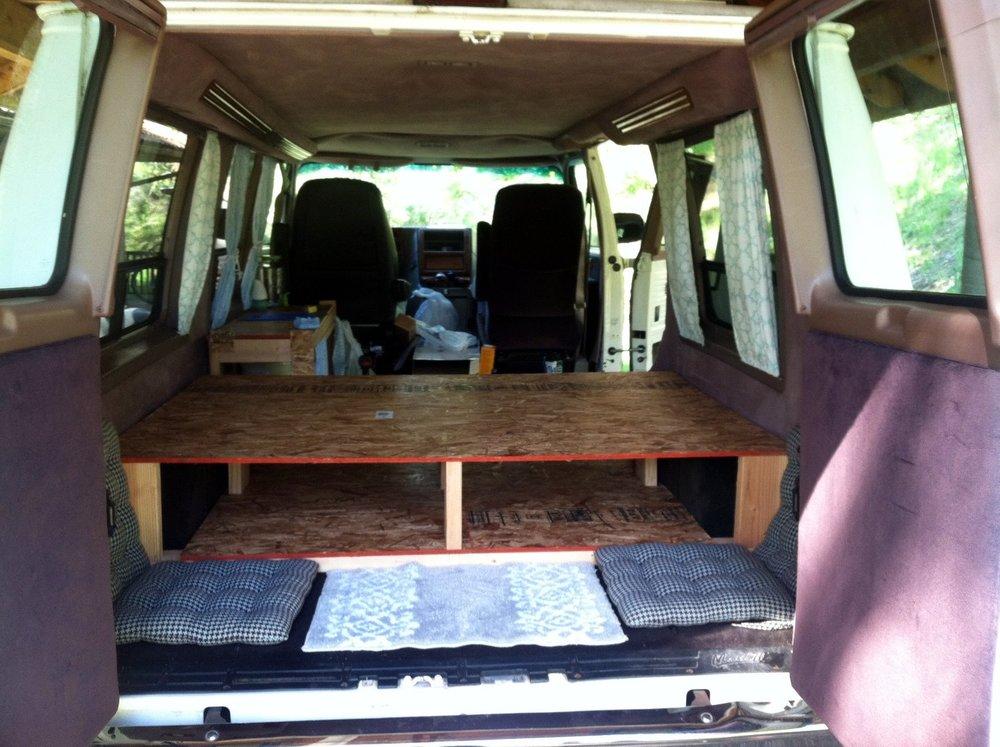 Campervan Wooden Bed Frame