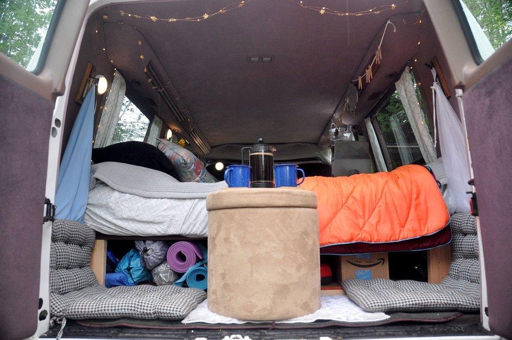 DIY Campervan Bed Frame