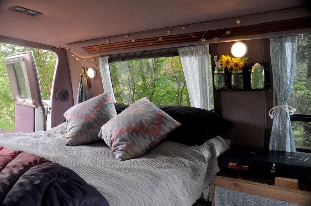 DIY Campervan Bed Frame Pillows