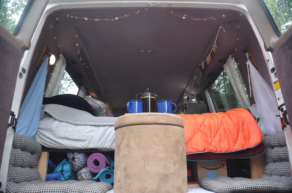 Campervan living organization