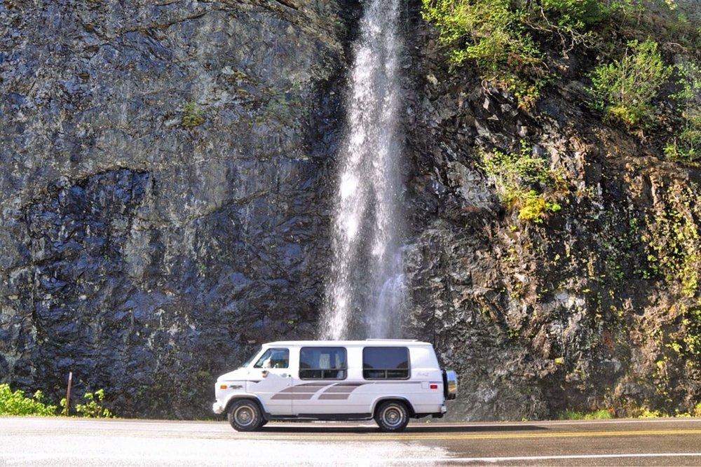 Van Life Q&A waterfall