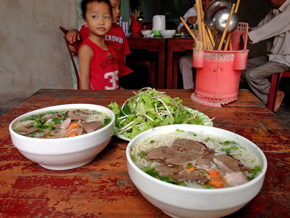 We stopped at this little family restaurant and played with the sons of the owners while they prepared our pho. Oh, and it was some of the best we had in all of Vietnam.