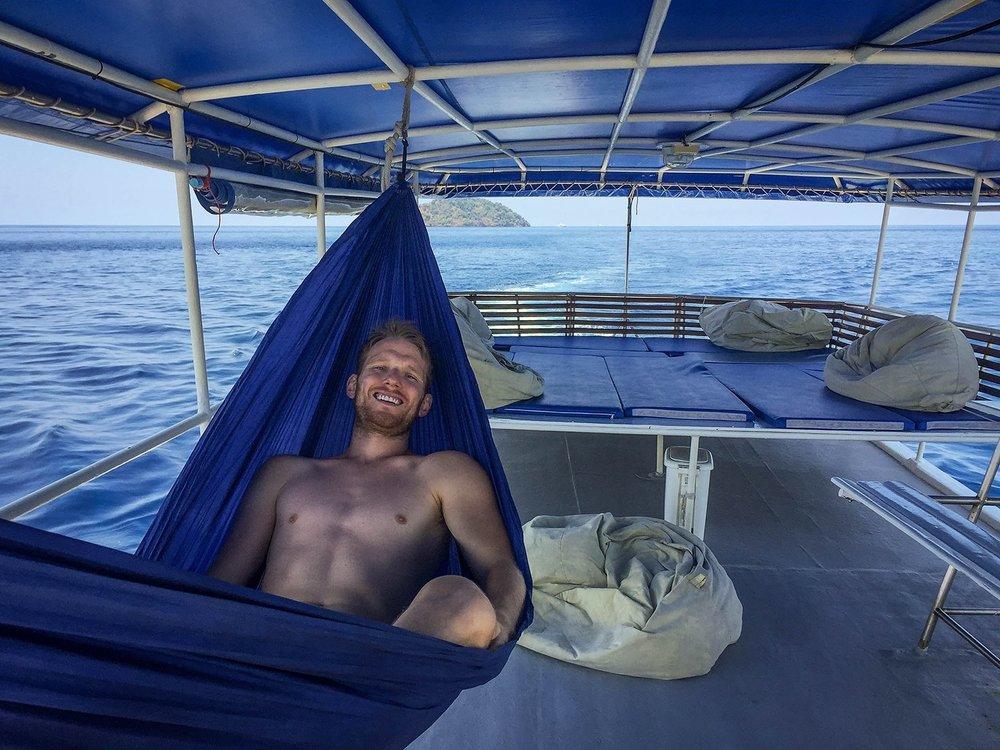 Similan Islands Liveaboard Wicked Diving Thailand Top Deck Hammock