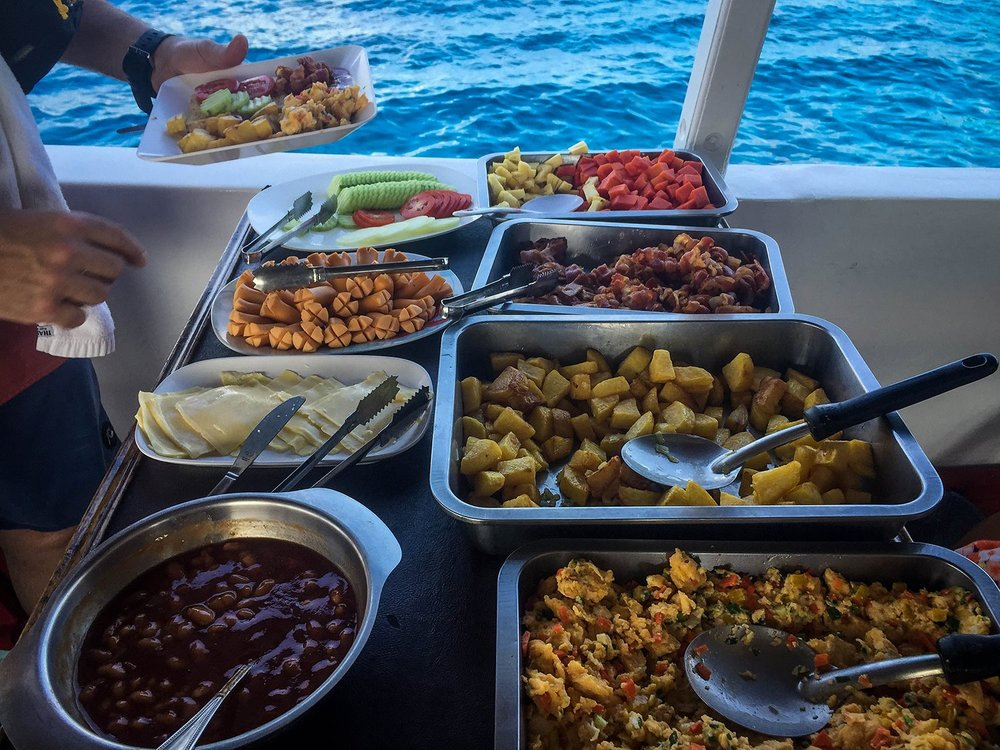 Similan Islands Liveaboard Wicked Diving Thailand Food Meals