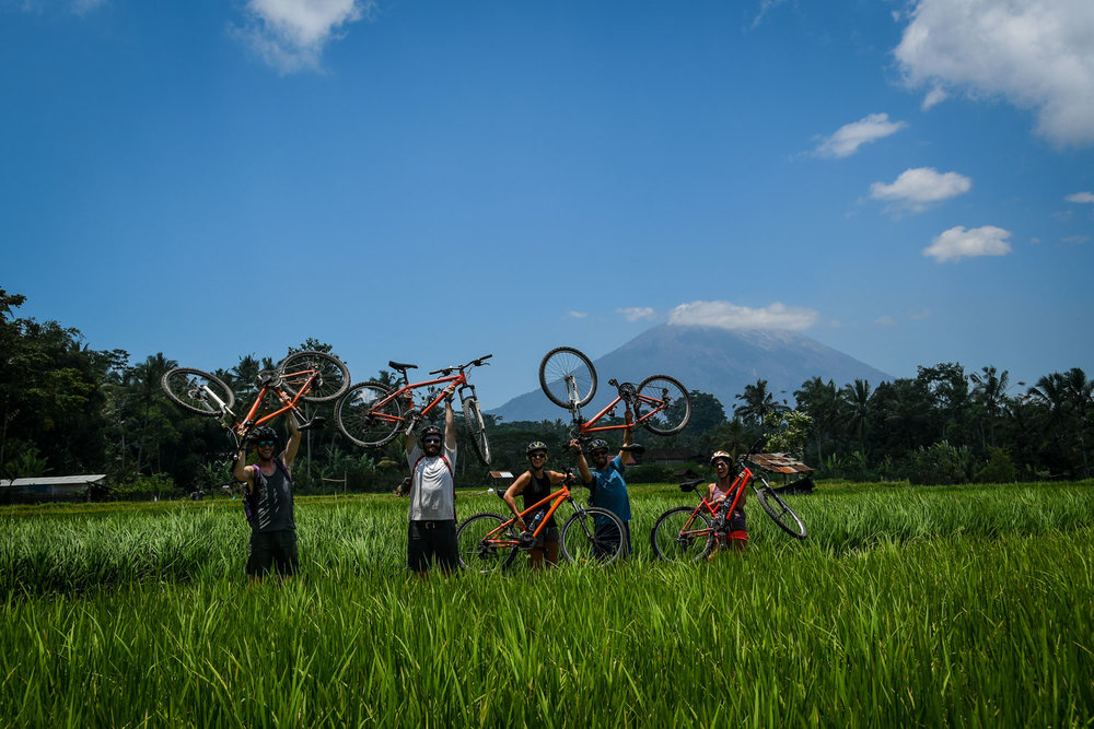 Biking in the countryside of Bali - Ring A Bike Tour