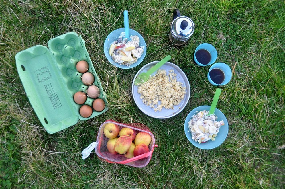 Breakfast Camping Food Iceland Camping Equipment