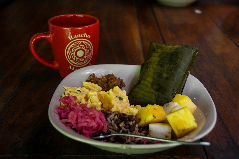 Rancho Mastatal Sustainable Lodge Meal Food